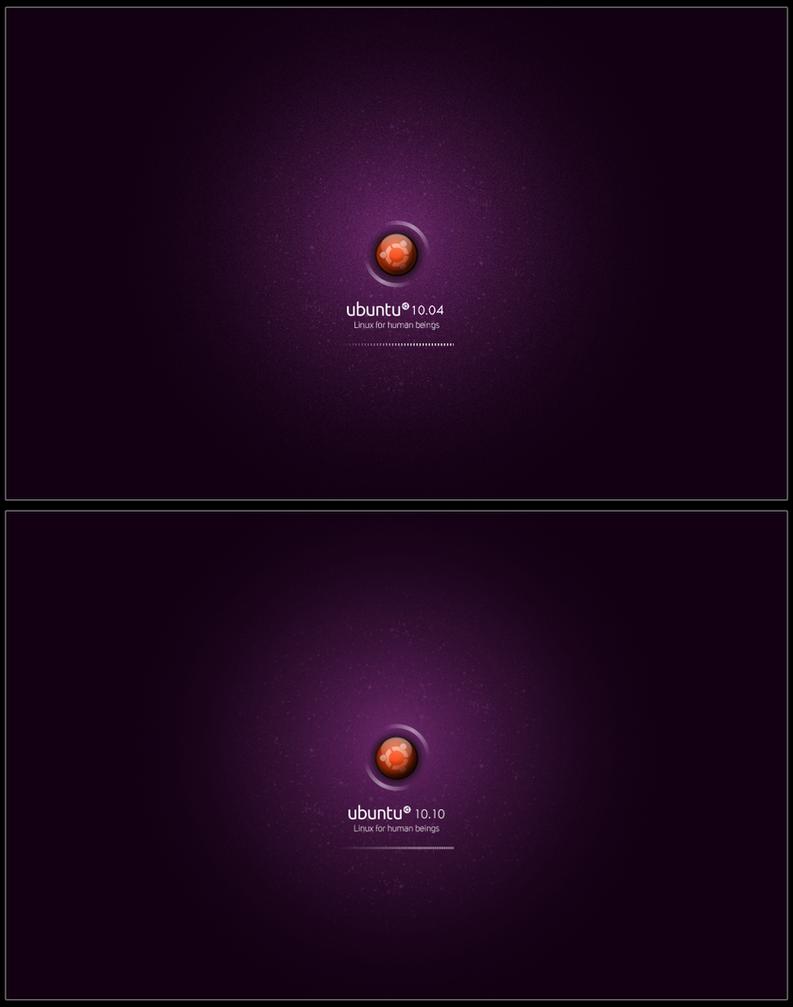 Ubuntu 10.10 Plymouth Splash by Internauta2000