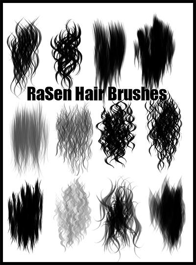 Painted Hair Brushes by RaSen on DeviantArt
