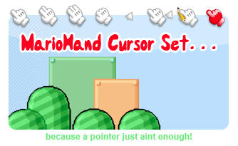 Official MarioHand Cursor Set by G0Ducks