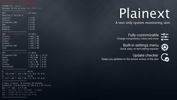 Plainext v1.7