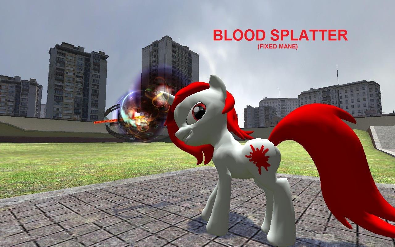 Blood Splatter hexed model DL fixed mane by THEKRAIDSTER567