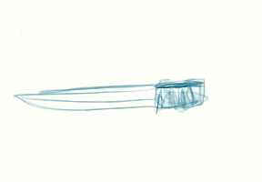 First try to draw a knife by Anastasia122