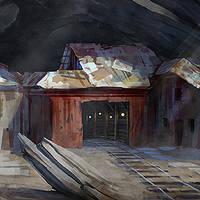 Desert Mine Painting steps by logartis