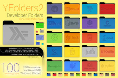 Yfolders2 Developer Pack1 / icons (ICNS/Windows10)