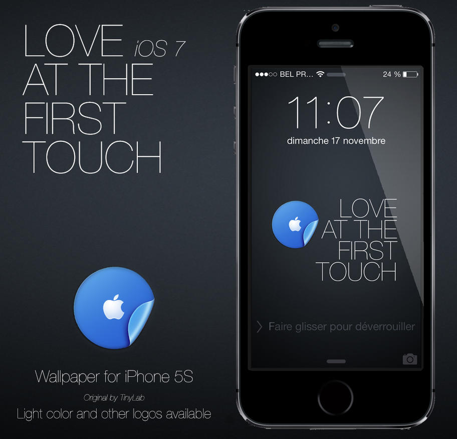 iOS7 at the first touch iPhone 5S by angeluson