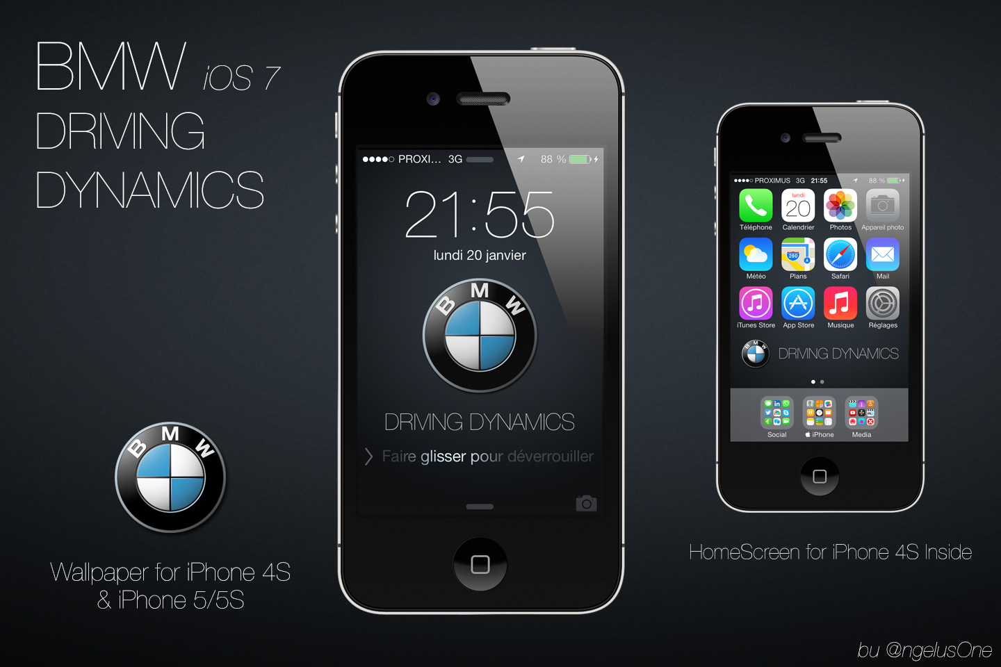 BMW Driving Dynamics iPhone 4S by angeluson