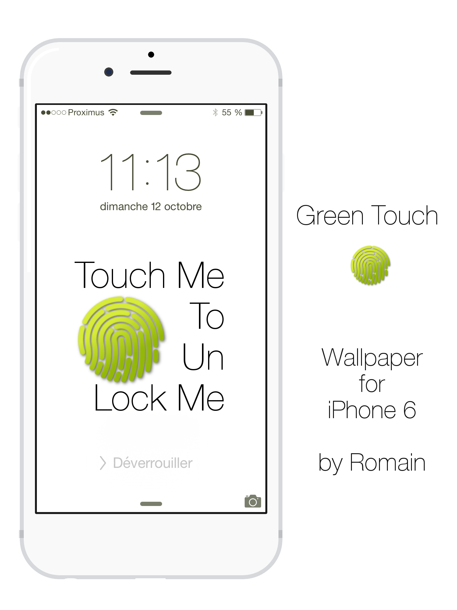 The Green iPhone 6 Touch by angeluson