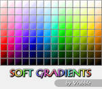 A set of soft gradients.
