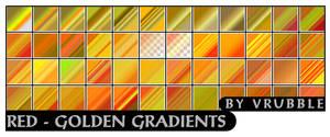 Red-golden gradients.
