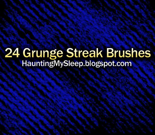 24 Grunge Streak Brushes by Killa-Cary