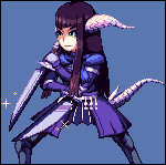 Yugiri Mistwalker (Final Fantasy XIV) | Pixel Art by Level2Select