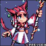 Miqo'te White Mage - FFXIV   Pixel Requests