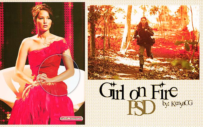 Girl on fire PSD by KenyaCG