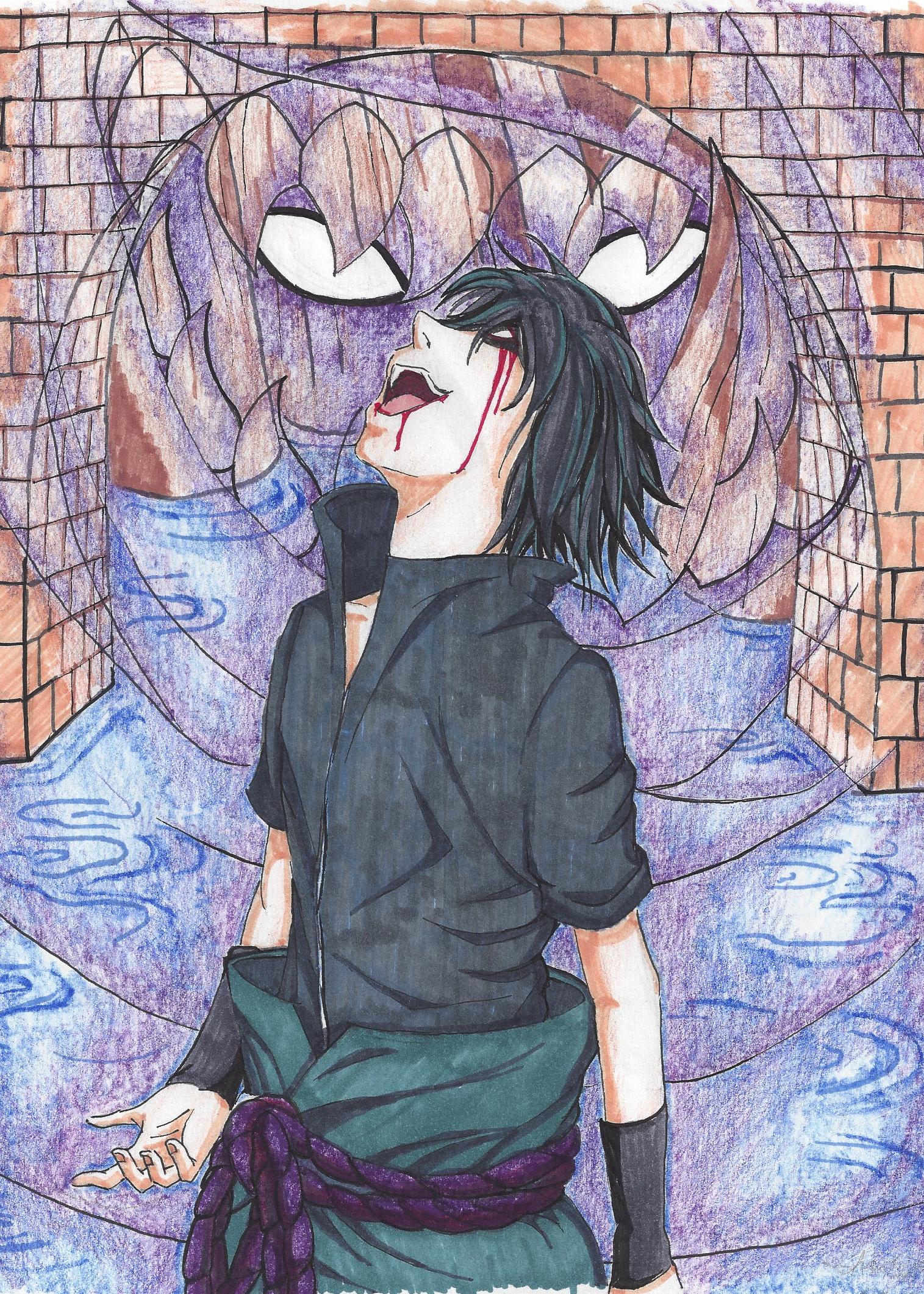 Sasuke Evil Laughter by IMNODOIRAE on DeviantArt