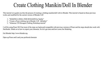 Create-Clothing-Manikin Doll-In-Blender by Lobo3433