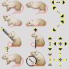 Siamese Rat Cursor Set by angelratdesigns