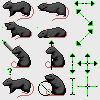 Black Rat Cursor Set