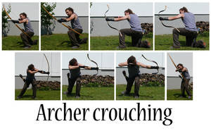 Archer crouching by syccas-stock
