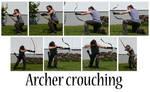 Archer crouching