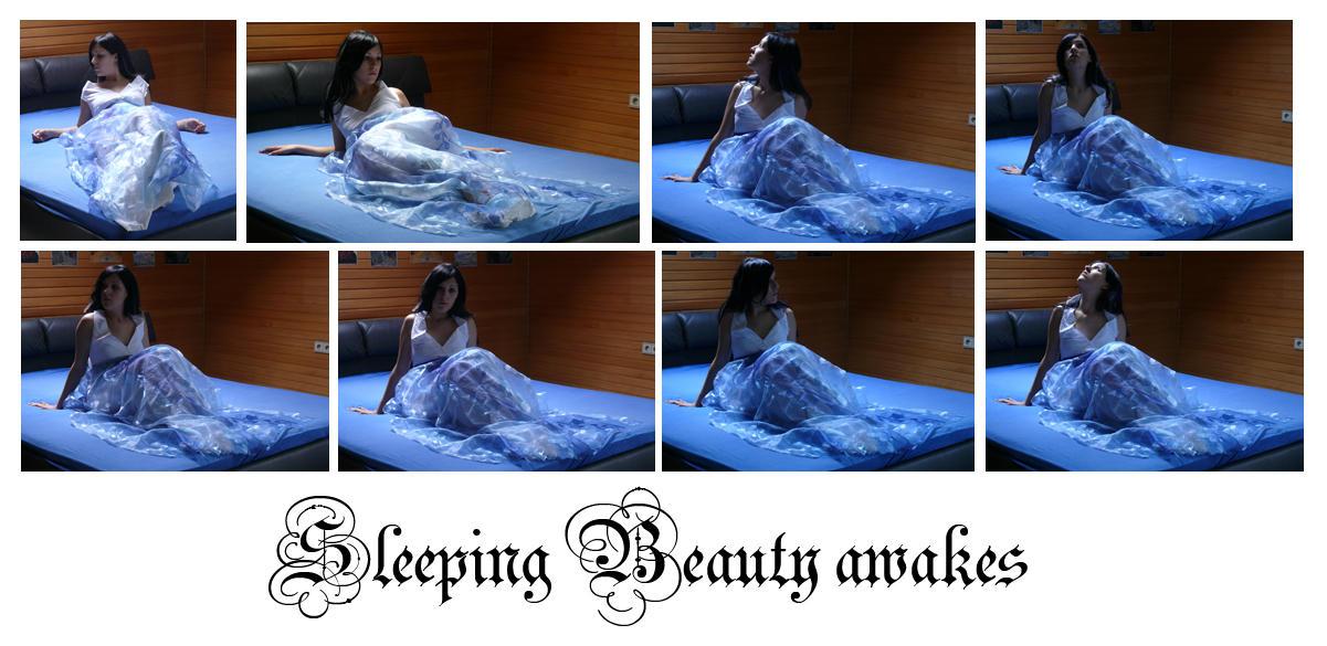 sleeping beauty awakes by syccas-stock