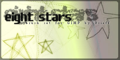 Star brushes for GIMP by Ansqu