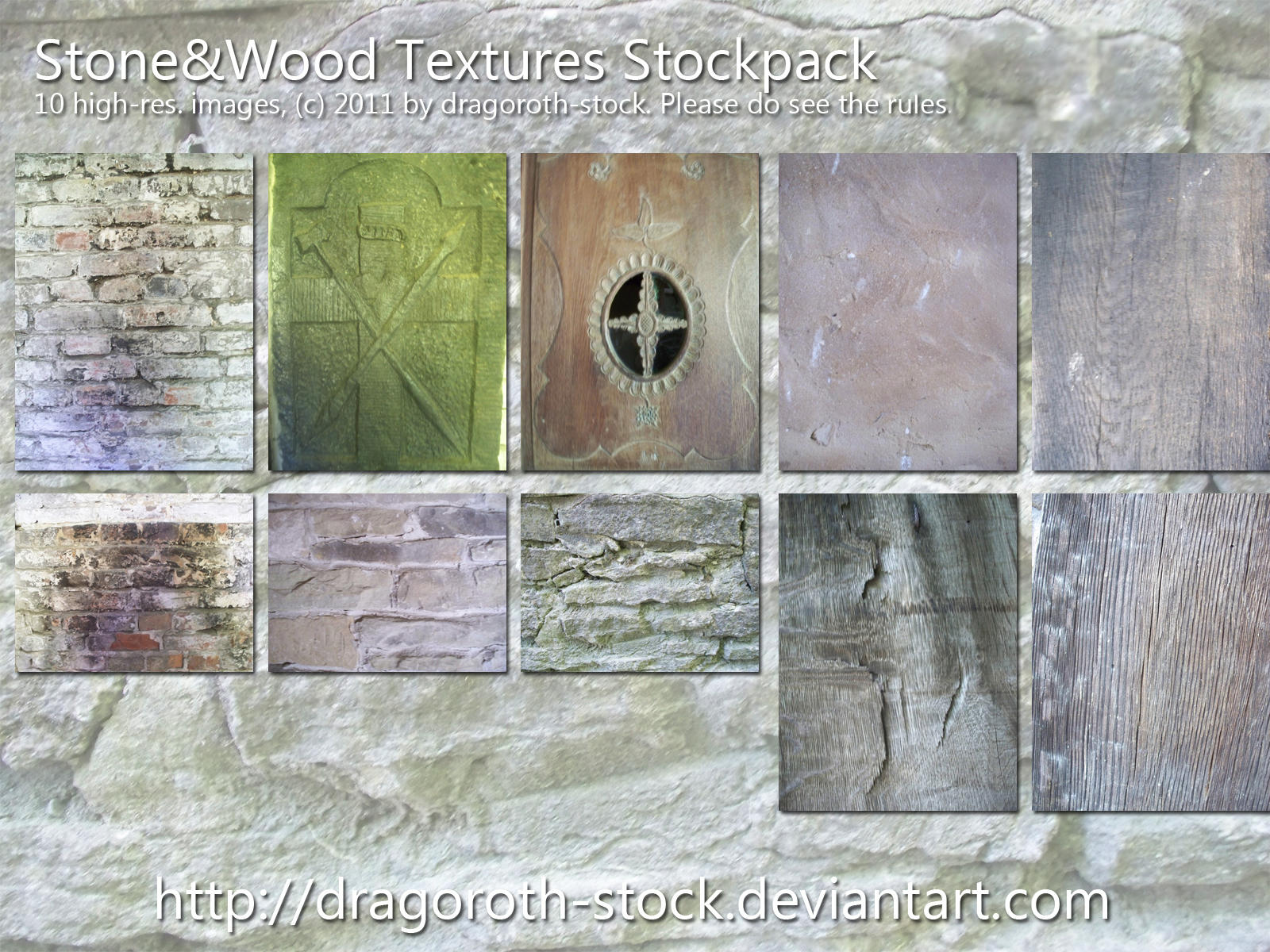 Stone+Wood Textures Stockpack by Dragoroth-stock