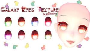 [MMD] Galaxy Eyes Texture DL