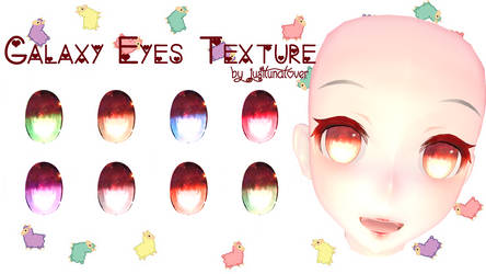 [MMD] Galaxy Eyes Texture DL by luna-panda-love