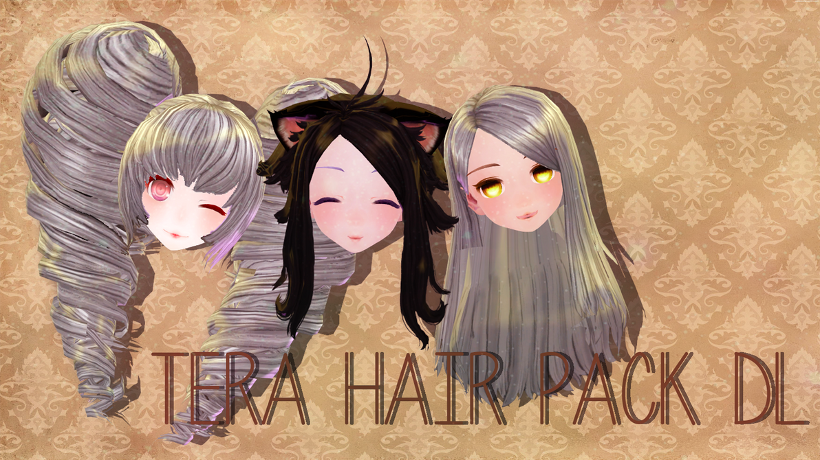 [MMD] Tera Hair Pack DL by JustLunaLover
