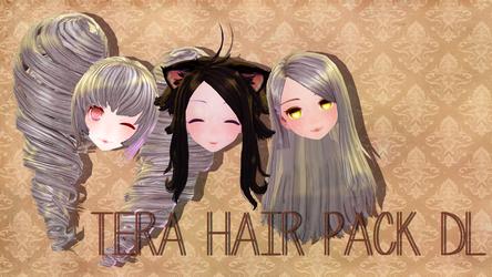 [MMD] Tera Hair Pack DL by luna-panda-love