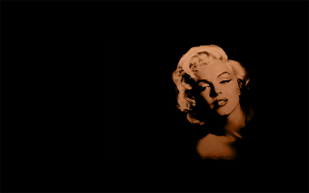 Marilyn Sepia Wall by jaidaksghost