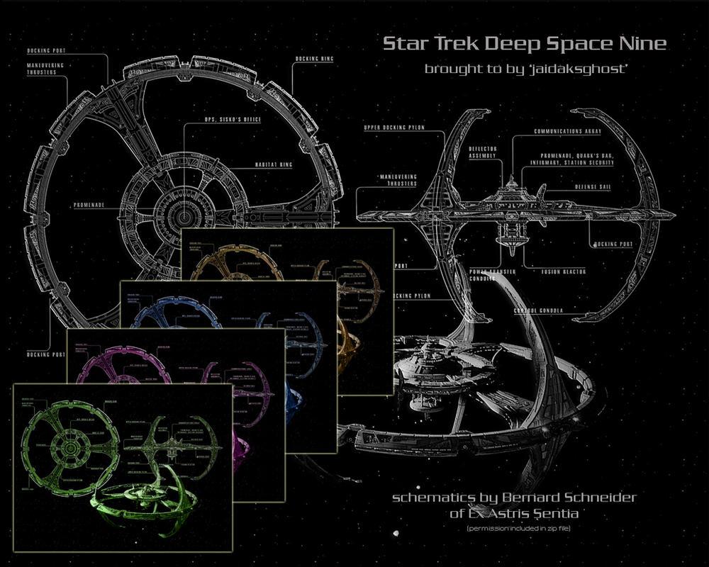Deep Space Nine Schematics by jaidaksghost