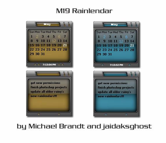 M19 Rainlendar by jaidaksghost