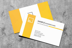 Free Business Card Mock-up by macrochromatic