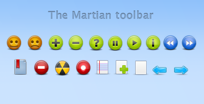 The Martian toolbar