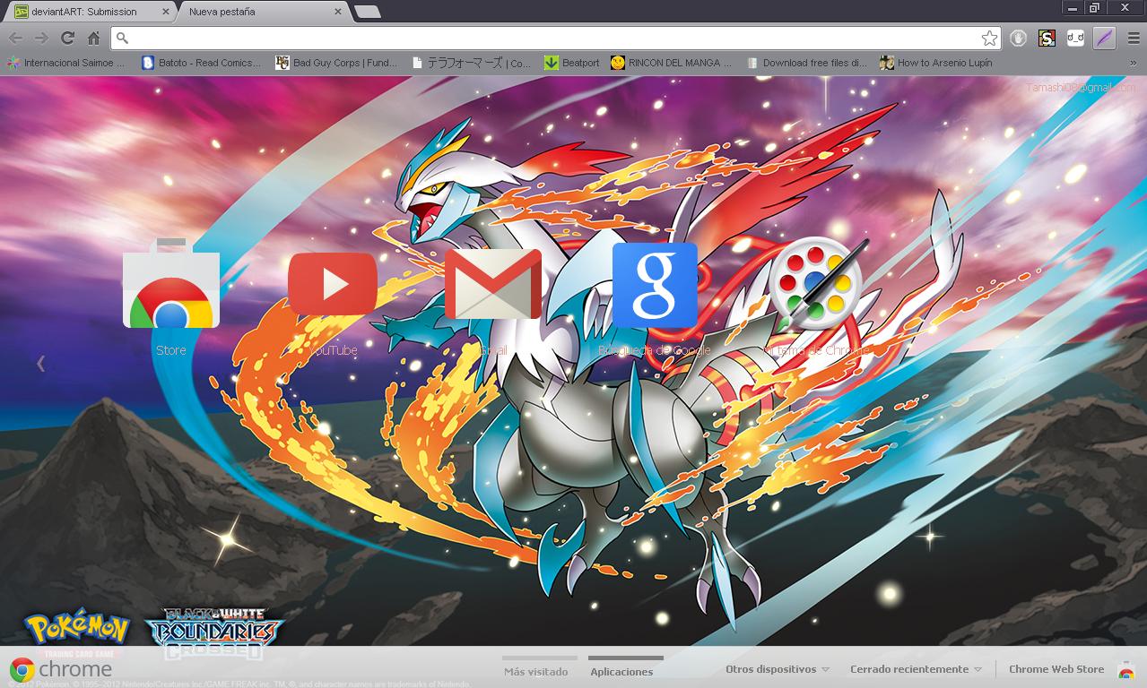 Google chrome themes yaoi - Pokemon White Kyurem Google Chrome Theme By Hellfrenzy