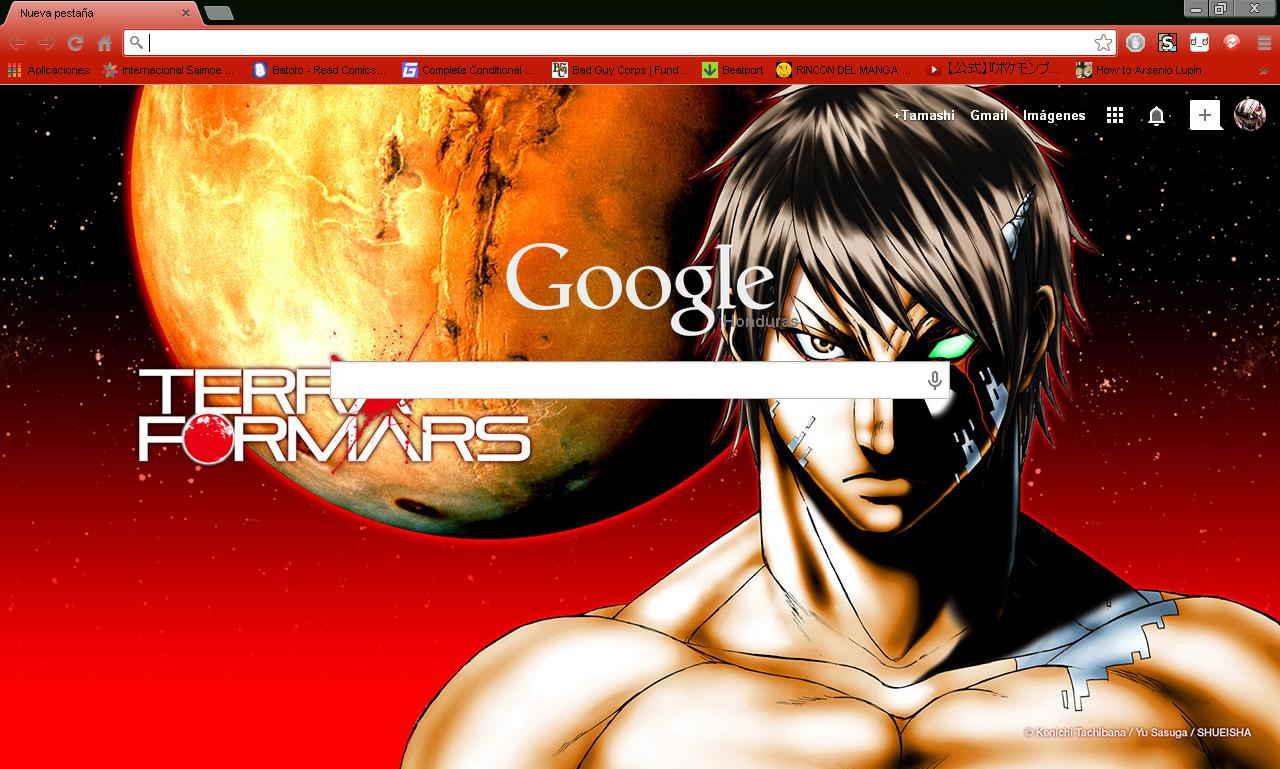 Google chrome themes yaoi -  Terra Formars Google Chrome Theme By Hellfrenzy
