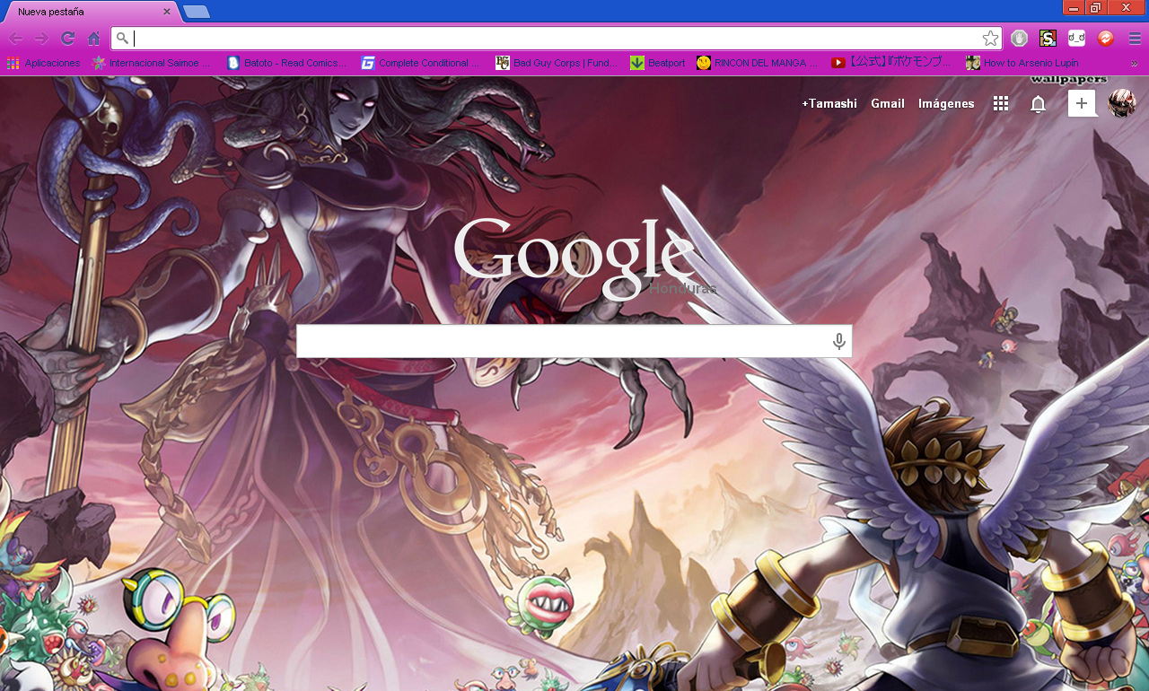 Google chrome themes yaoi - Kid Icarus Uprising Google Chrome Theme By Hellfrenzy