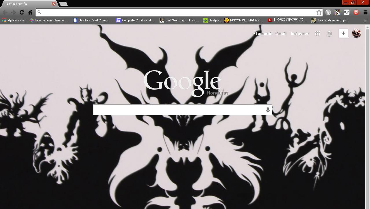 Google themes black and white - Shin Megami Tensei Iv Google Chrome Theme By Hellfrenzy