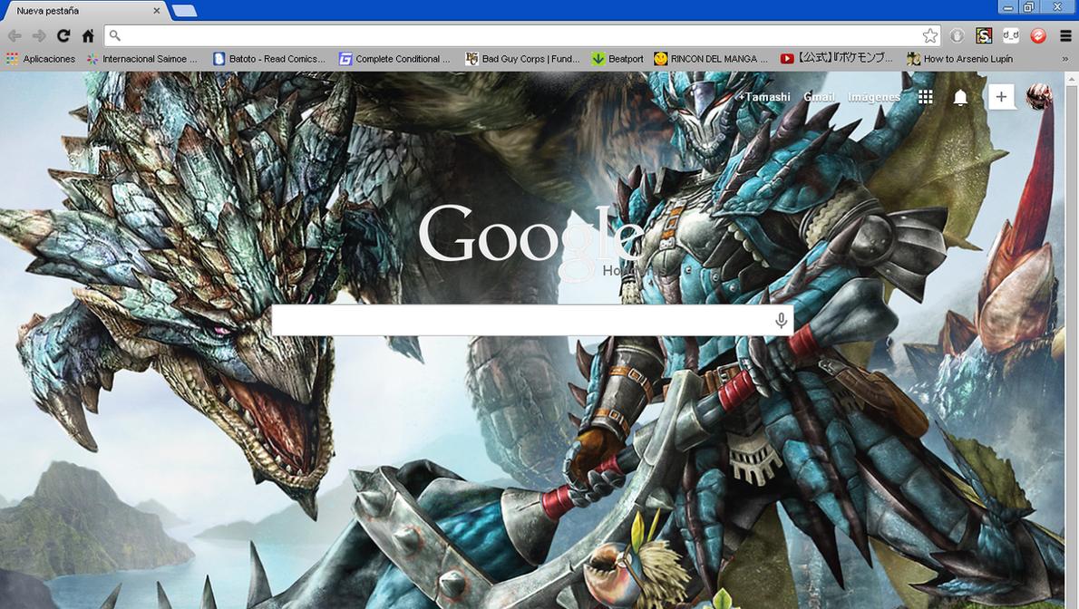 Google themes video - Monster Hunter 3 Ultimate Google Chrome Theme By Hellfrenzy