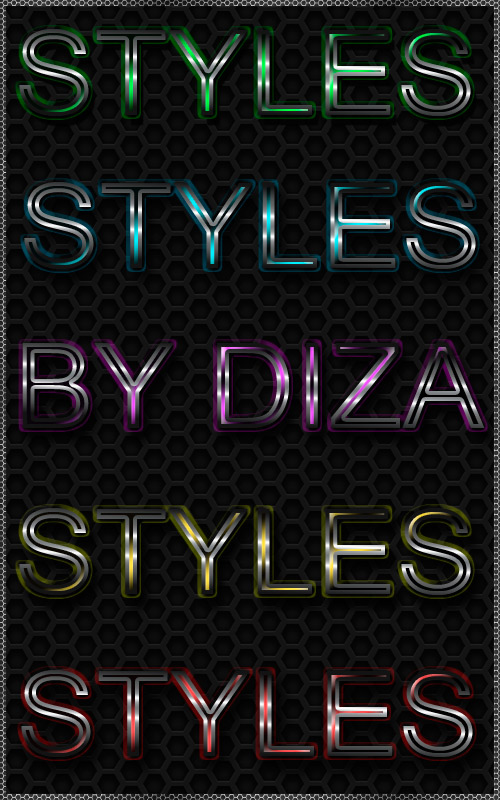 Metal and color styles by DiZa