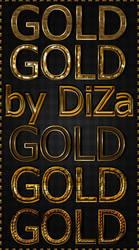 6 gold text styles by DiZa by DiZa-74