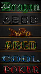 6 Text Photoshop Styles by DiZa-74