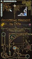 DiZa decorative element