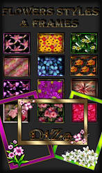 Flowers styles + frames png by DiZa-74