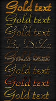 Golden text styles by DiZa-74