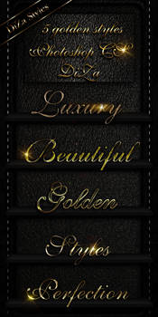 5 golden Photoshop styles