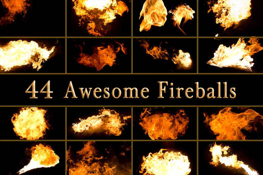 44 Awesome Fireballs of Flame Fire