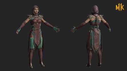 MK11: jade - spring formal by rotten-eyed