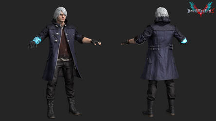 devil may cry 5: nero dmc4 hairstyle (mod)